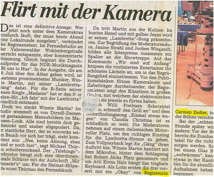 Presse Volksmusik Hannover